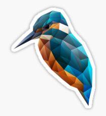 Low Poly Kingfisher Sticker