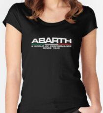 Abarth, a world of performance (white) Women's Fitted Scoop T-Shirt