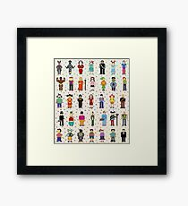 pixel people Framed Print