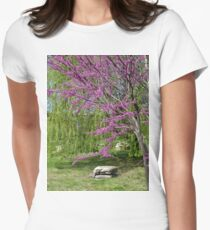 Spring Serenity Womens Fitted T-Shirt