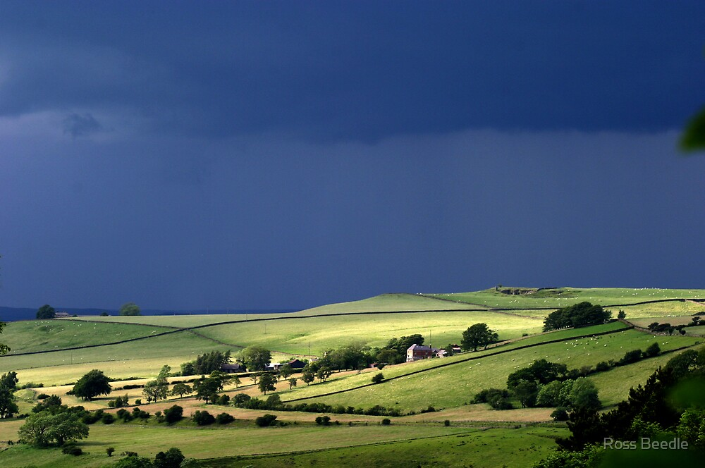 Early Morning Light Allendale Northumberland by Ross Beedle
