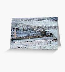 Wolfcleugh lead mine Rookhope Co. Durham Greeting Card
