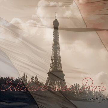 Solidaire Avec Paris by Photograph2u