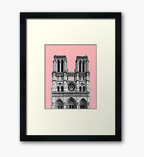 Notre dame pink poster Framed Print