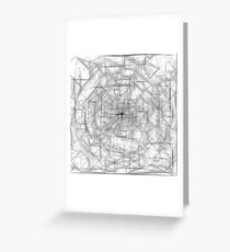 psychedelic drawing and sketching abstract pattern in black and white Greeting Card