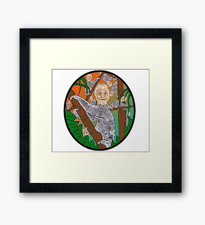Planet Sir Sloth  Framed Print