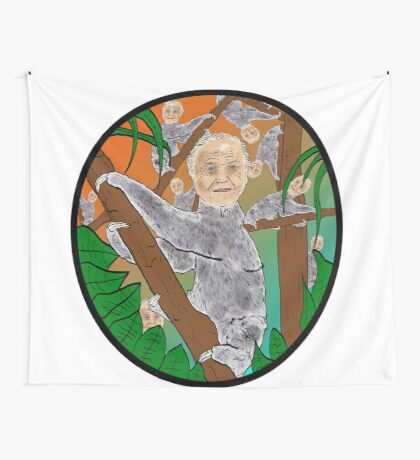 Planet Sir Sloth  Wall Tapestry