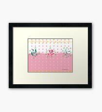 Roses Garden in Pink Framed Print