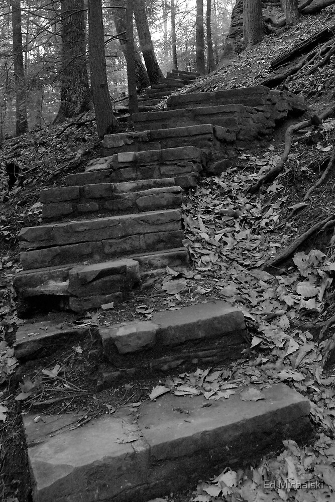 Winding stone stairs by Ed Michalski