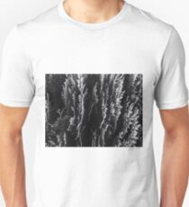 closeup leaf texture abstract background in black and white Unisex T-Shirt