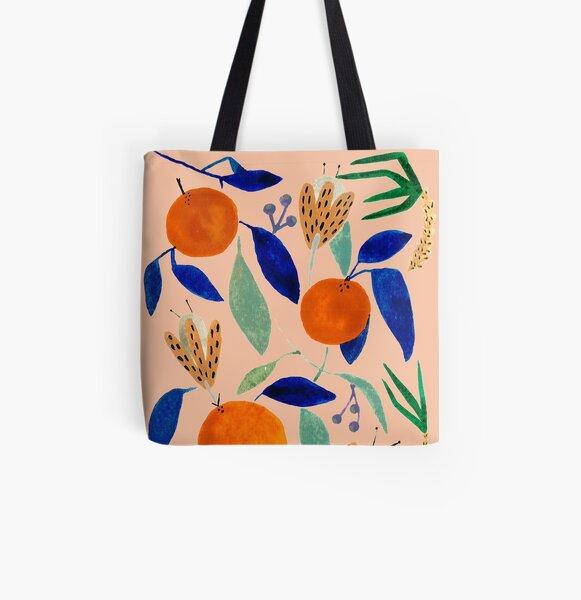 Orange Mania All Over Print Tote Bag