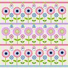 Fantasy flowers pattern vector illustration by walstraasart