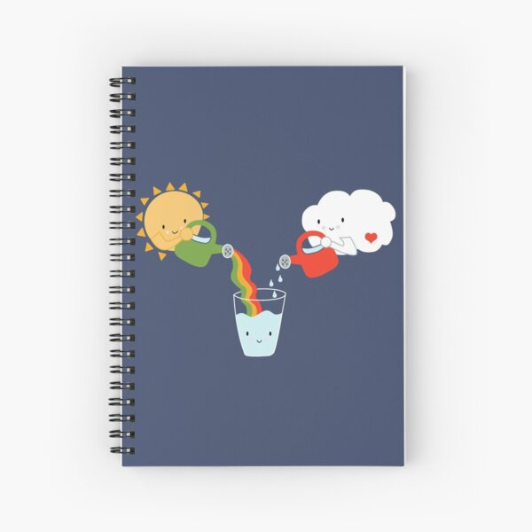 The Glass is Refillable Spiral Notebook
