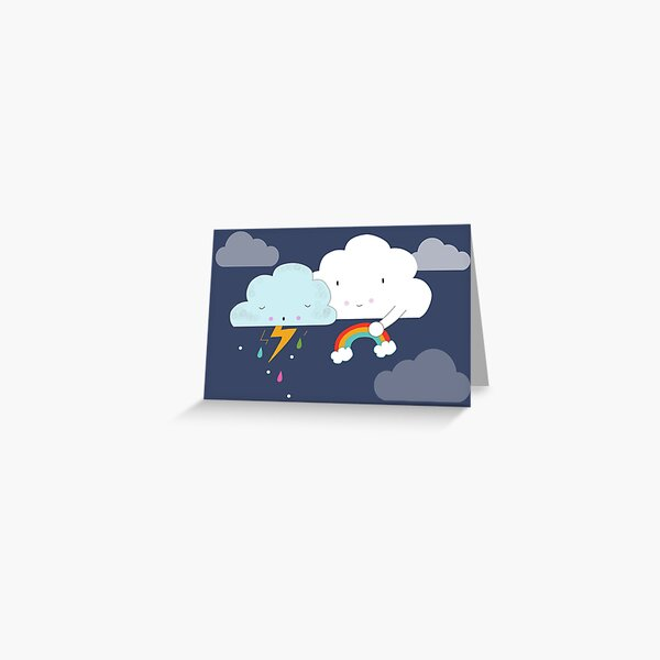 Get well soon little cloud Greeting Card