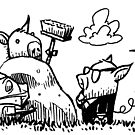 3 Professional Pigs by Mike Cressy