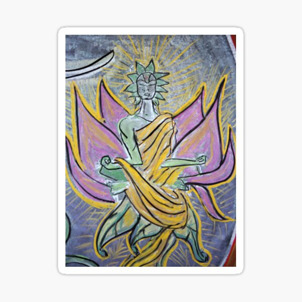 Astral Angel (from Chalk Meditation #4) Sticker