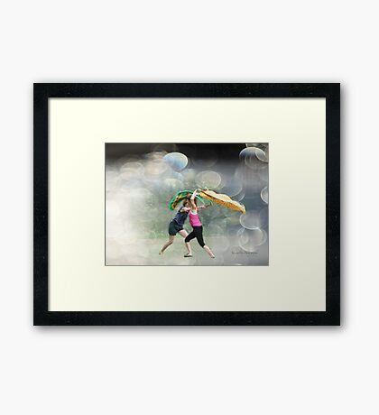 Dancing in the Park Framed Print