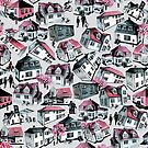 Danish small town pattern by camcreativedk