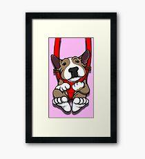 EBT Puppy Carrier Graphic Framed Print