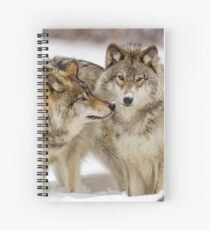 Love you sweetie... - Timber Wolves Spiral Notebook