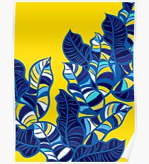 Pop foliage on Yellow Poster
