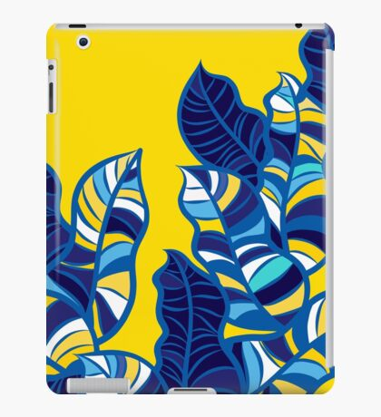 Pop foliage on Yellow iPad Case/Skin