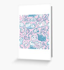 Guinea Pig Huddle In Pink Greeting Card