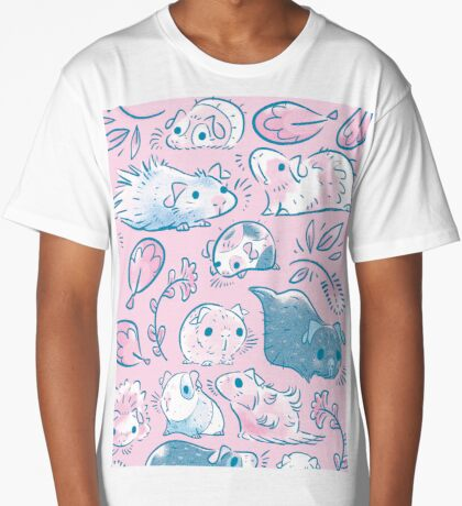 Guinea Pig Huddle In Pink Long T-Shirt