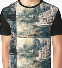 Abstract Tugboat Graphic T-Shirt