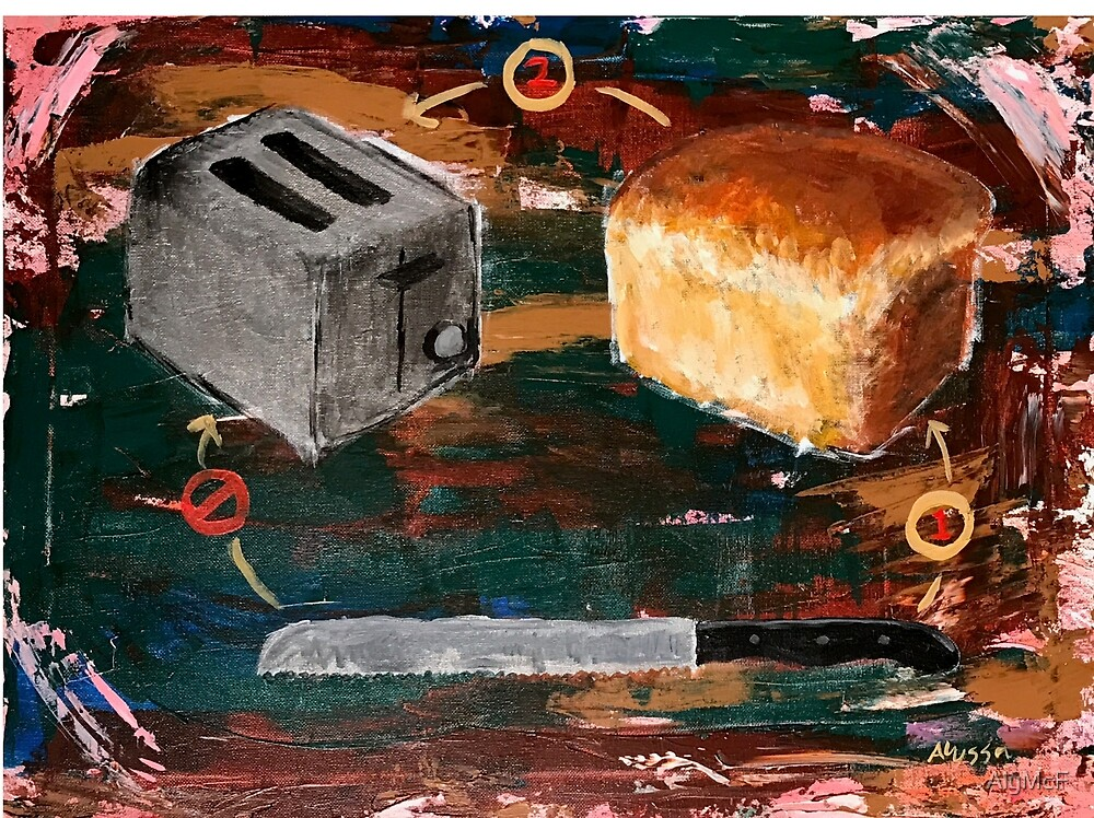 Knife, Bread, Toaster by AlyMcF