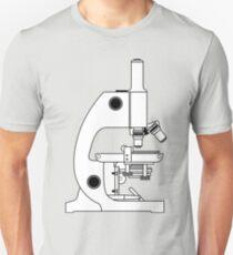 BLACK AND WHITE MICROSCOPE DESIGN T-Shirt