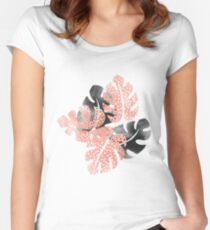 Monstera shadow Women's Fitted Scoop T-Shirt