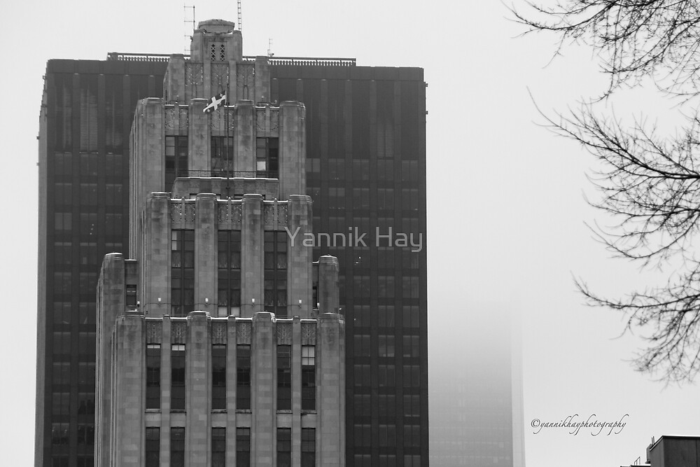 In the Fog - Black and White by Yannik Hay