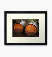MacAllan Casks - Scotland Framed Print