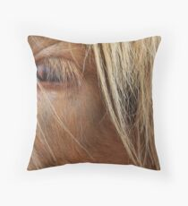 Fringe in the eyes Throw Pillow