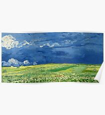 Wheatfield Under Thunderclouds by Vincent van Gogh (1890) Poster