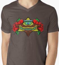 Hipster Pyramid Mens V-Neck T-Shirt