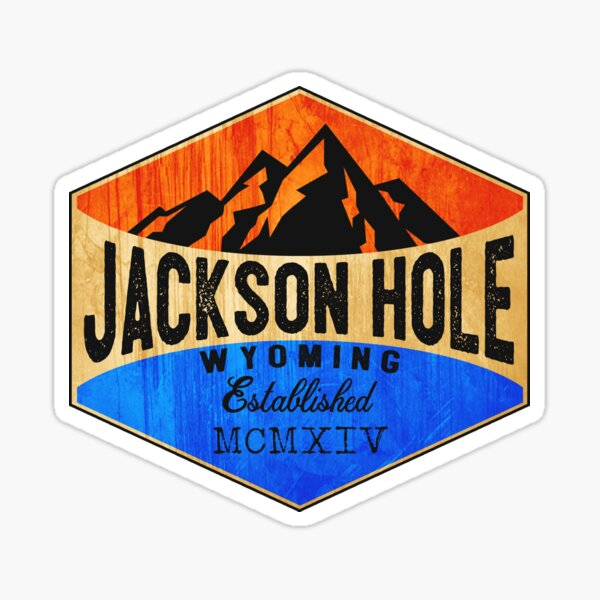 JACKSON HOLE WYOMING Mountains Skiing Ski Snowboard Hiking Snowboarding Sticker