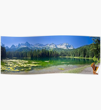 Island Lake Panorama - British Columbia Poster