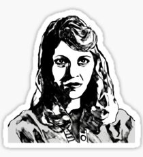 Sylvia Plath Digital Art Design Sticker
