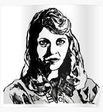 Sylvia Plath Digital Art Design Poster