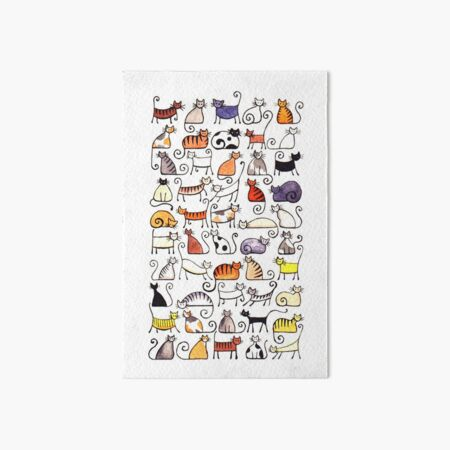 Cats, cats, cats! Art Board Print
