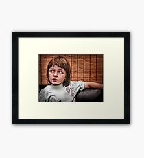 Just a Boy Framed Print