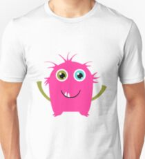 Cute and funny pink monster alien Unisex T-Shirt