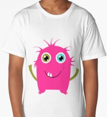Cute and funny pink monster alien Long T-Shirt