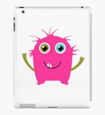 Cute and funny pink monster alien iPad Case/Skin