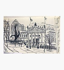 Foley Square NYC Ink Photographic Print