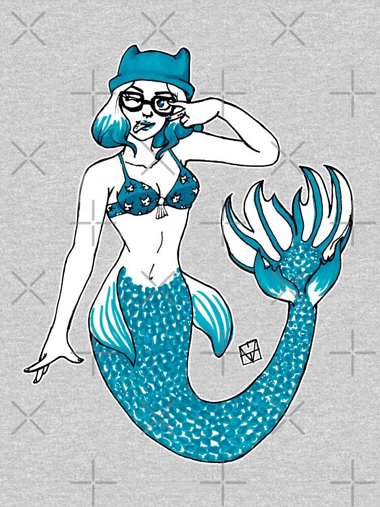 Hipster Mermaid by MaeganCook
