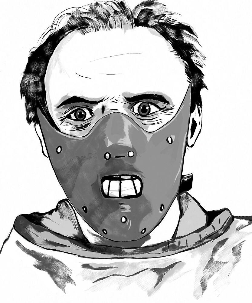 Hannibal Lecter Art by Sarah Zinkann