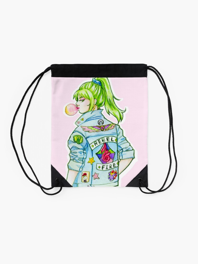 Alternate view of FlashBack Chick Drawstring Bag